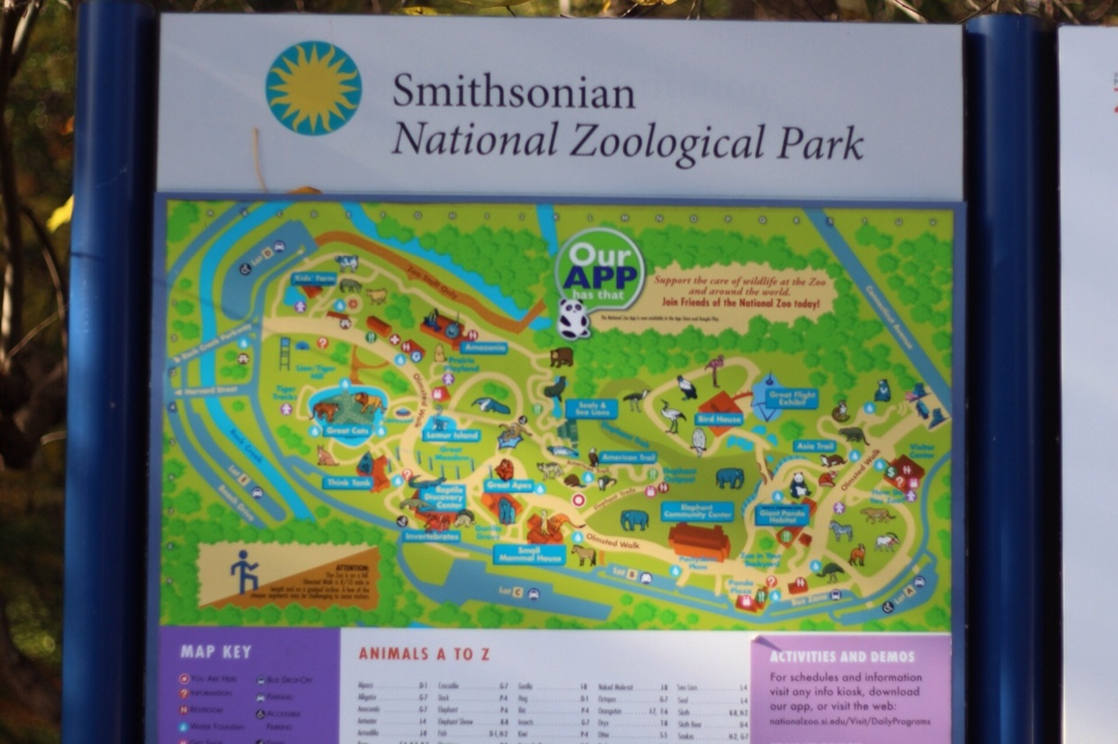 Smithsonian Zoo Map