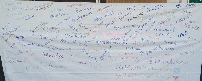 #bit14 Learning Space Twitter Wall