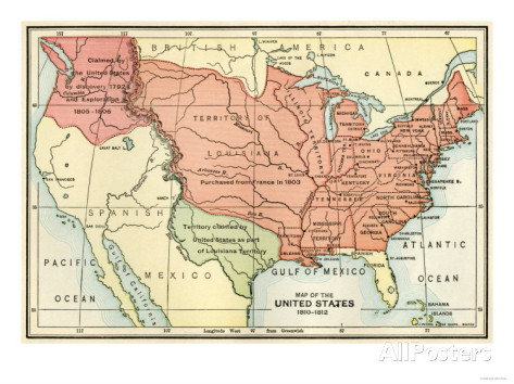The United States In Archiving Early America FileUnited - Map of us in 1812