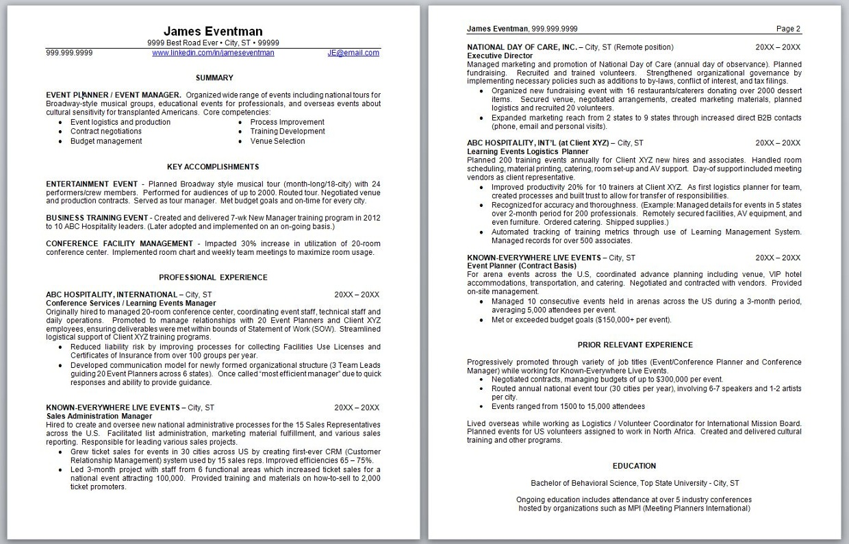 Resume Tips (an interactive tool created by M  Newhouse)