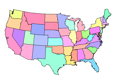 map us states no names - 28 images - file map of usa with state ...