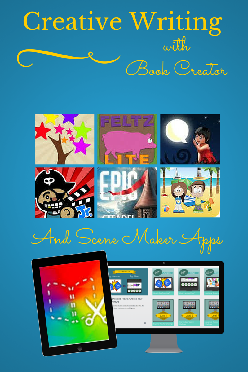 creative writing with book creator and scene maker apps