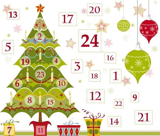 Julkalender med engelska julord