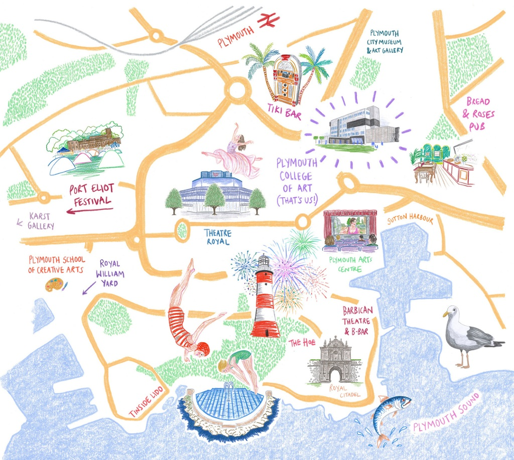 Plymouth Uni Map We've put together an interactive, illustrated map of Plymouth  Plymouth Uni Map