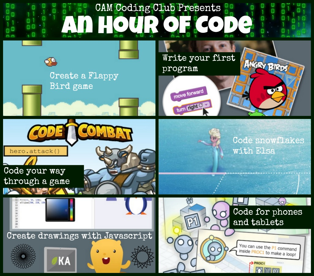 CAM Coding Club Presents An Hour of Code 2014