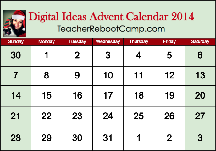 Digital Tools, Apps & Activities Advent Calendar 2014