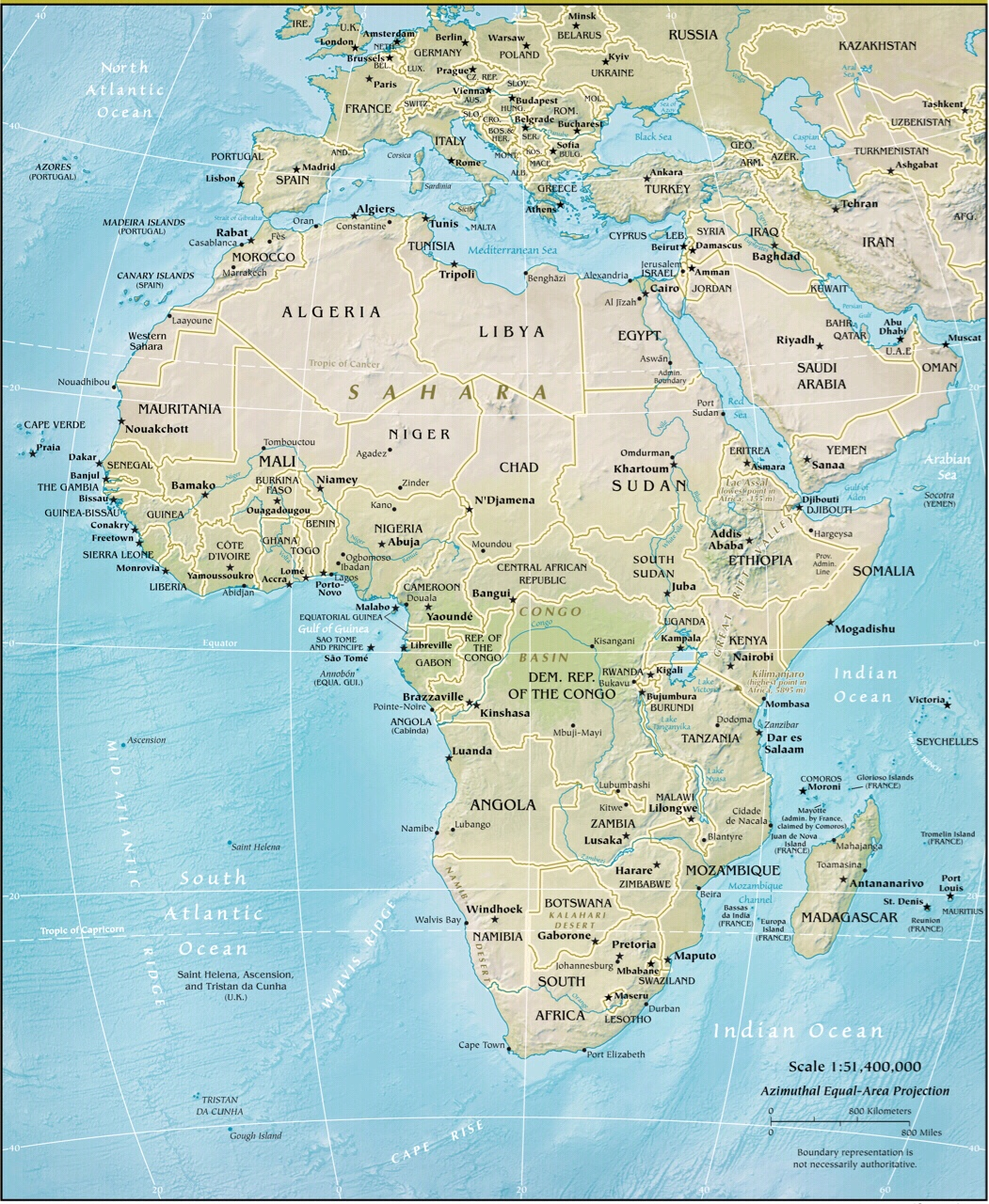 Map Of Africa Physical Geography.Africa Physical Geography