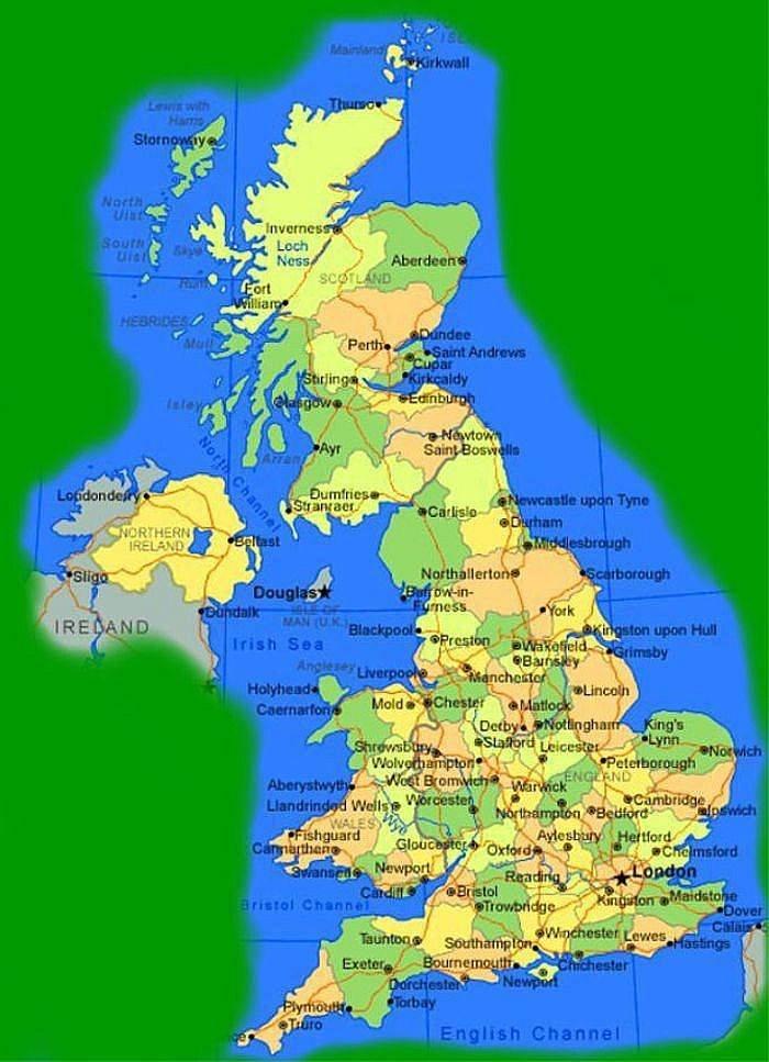 Cartina Geografica Politica Inghilterra.Carlo I Subentrato Al Trono D Inghilterra Di Scozia E D