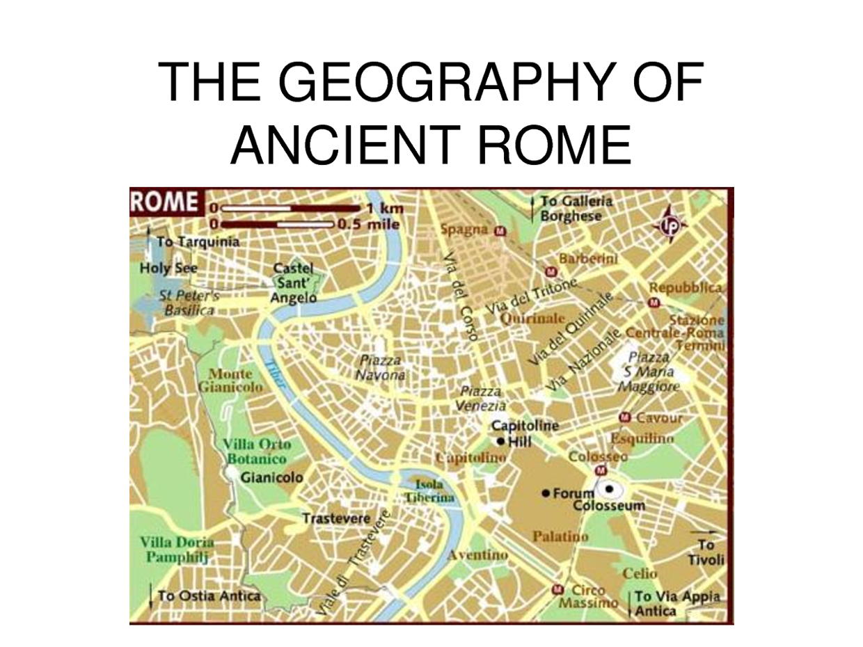 Rome Geography ThingLink - Geography of rome