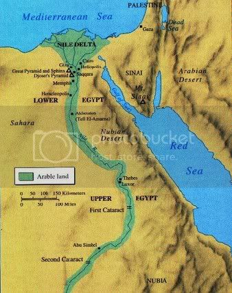 Geography Of The Nile ByJon Daugherty ThingLink - Map of egypt landforms