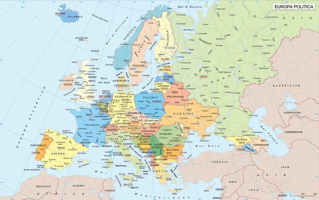 Cartina Europa Politica Aggiornata.Unione Europea Geografia Per Tutti