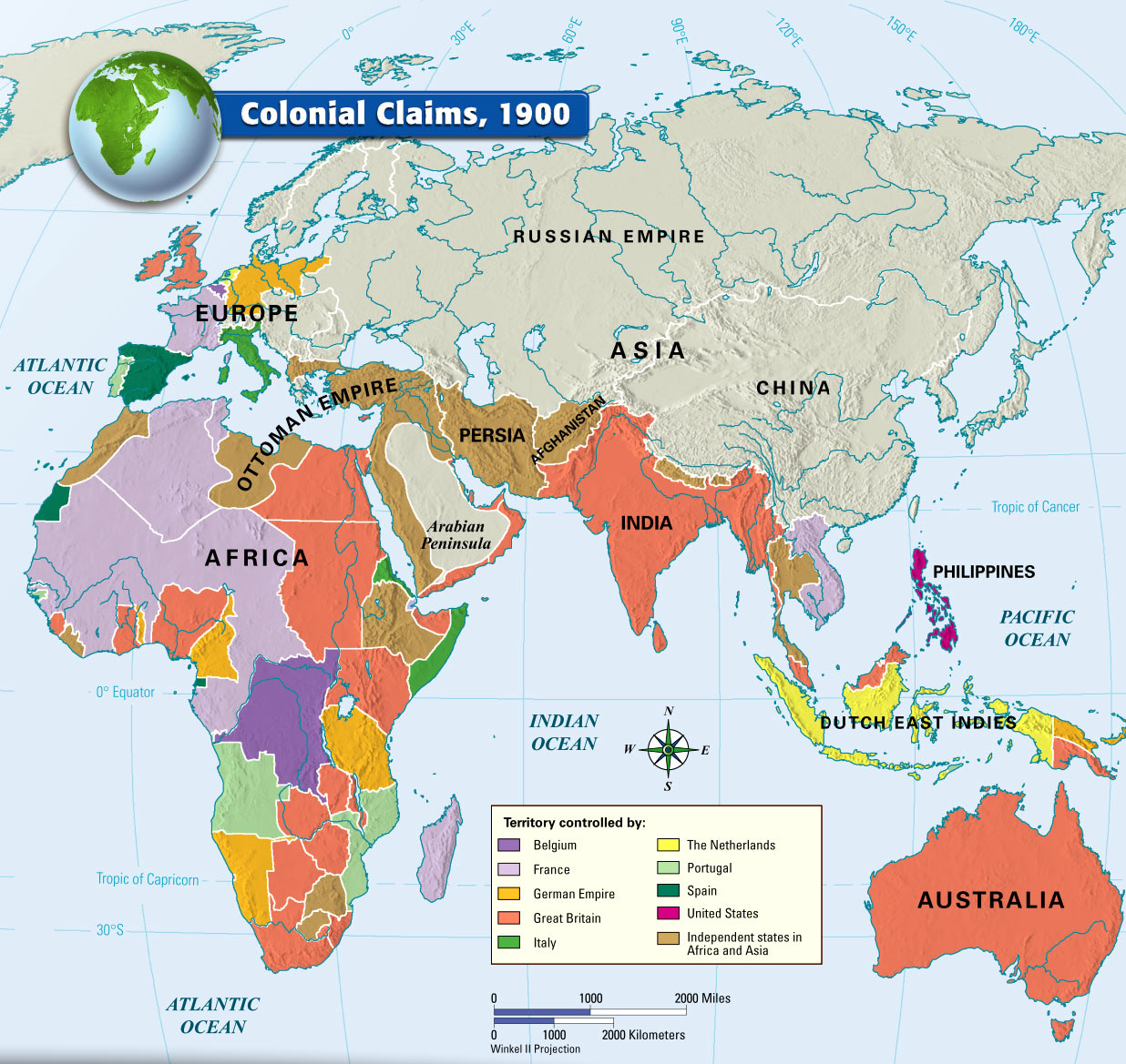 1800 S Colonial Scene On Demand: Europe's Colonies In The Late 1800s