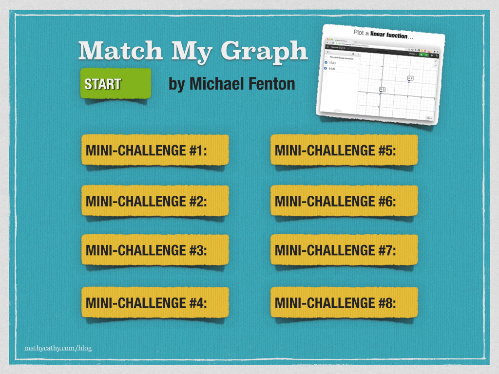 """Match My Graph"" Desmos Mini-Challenges by Michael Fenton"
