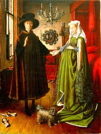 symbolism in giovanni arnolfini and his bride Do you really want to delete this prezi neither you, nor the coeditors you shared it with will be able to recover it again delete  illusion, symbolism, and art terminology in jan van eyck's arnolfini's wedding pamela woodley-wells art appreciation hannah judson july 27, 2014 jan  and a women standing together in front of a bed the man has traditionally been identified.