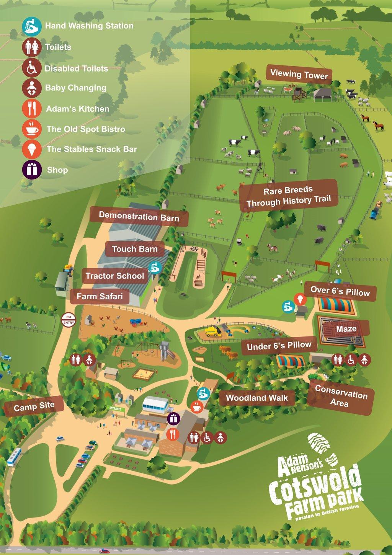 Map of the Park Cotswold Farm Park
