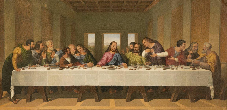 Viimeinen Ehtoollinen (1700 -l. kopio Leonardon teoksesta)