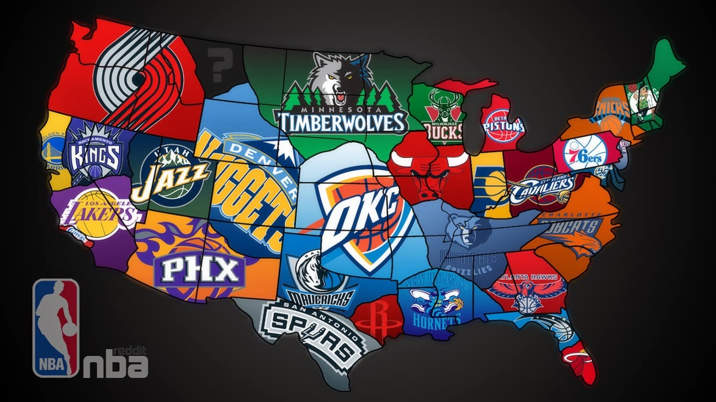 NBA TEAM MAP