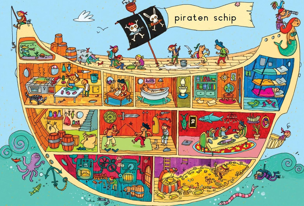 Wimmelbild Piraten
