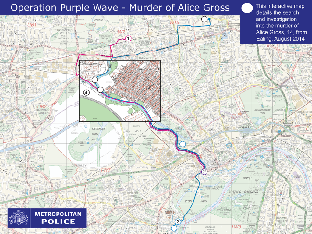 Police release Alice Gross murder interactive map 1