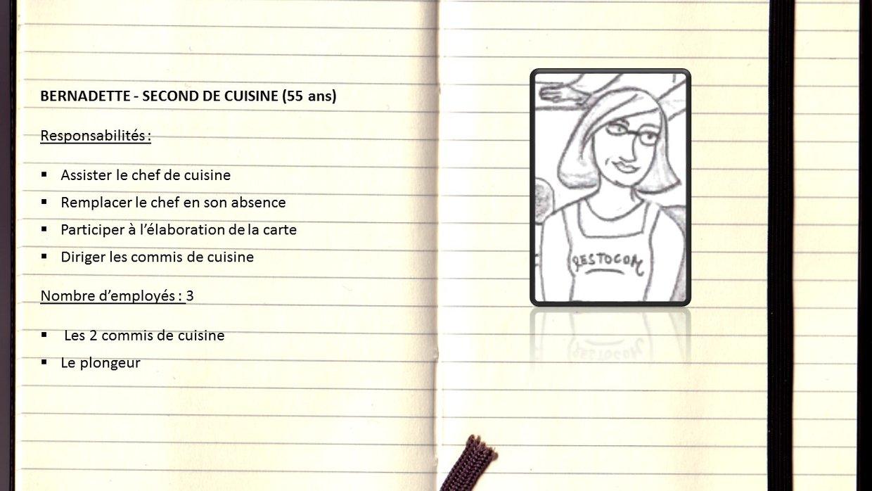 Bernadette second de cuisine thinglink - Second de cuisine salaire ...