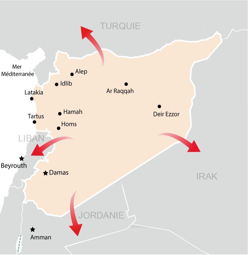 Activités de MSF en Syrie et dans les pays voisins