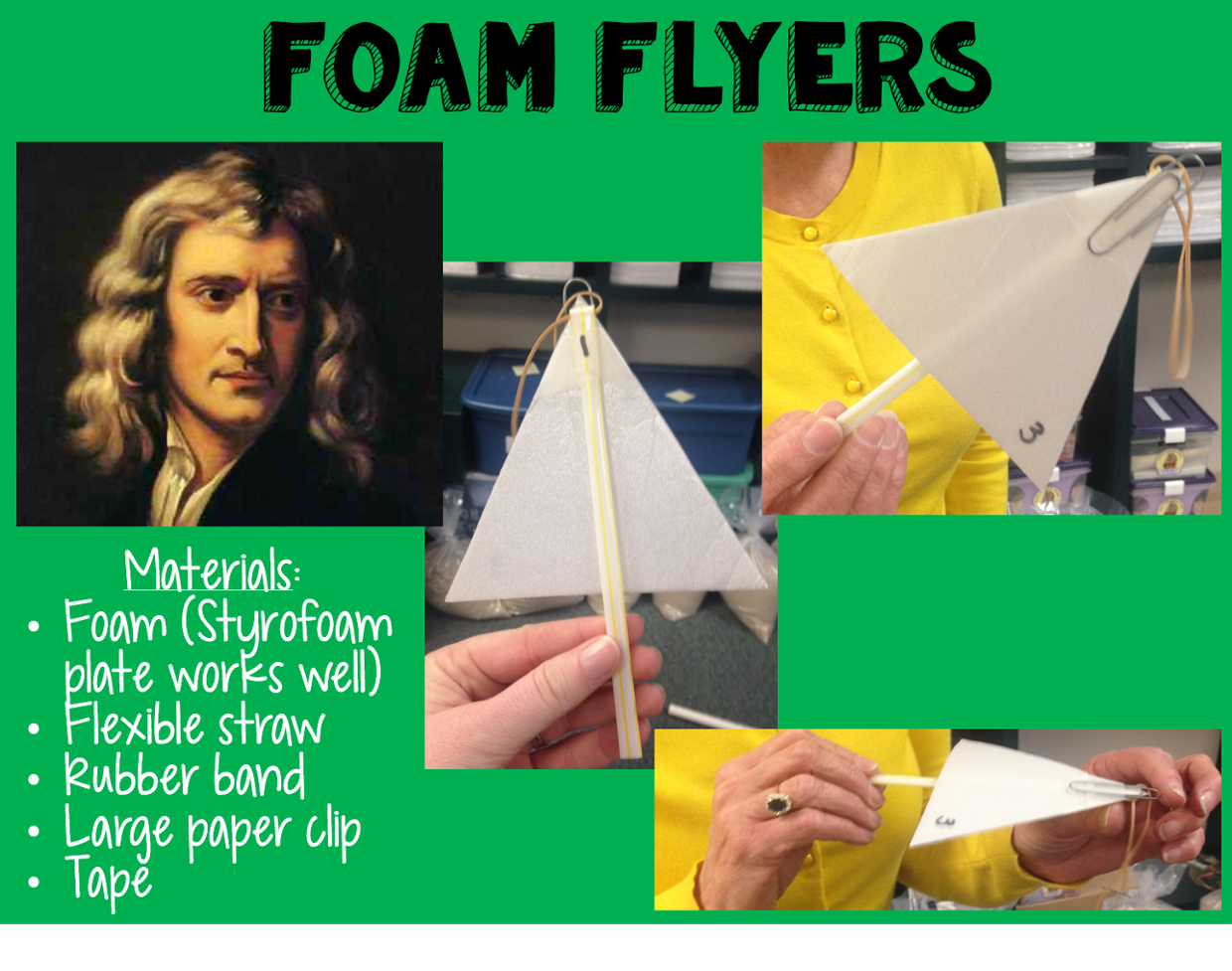 Newton's 3 Laws of Motion with Foam Flyers