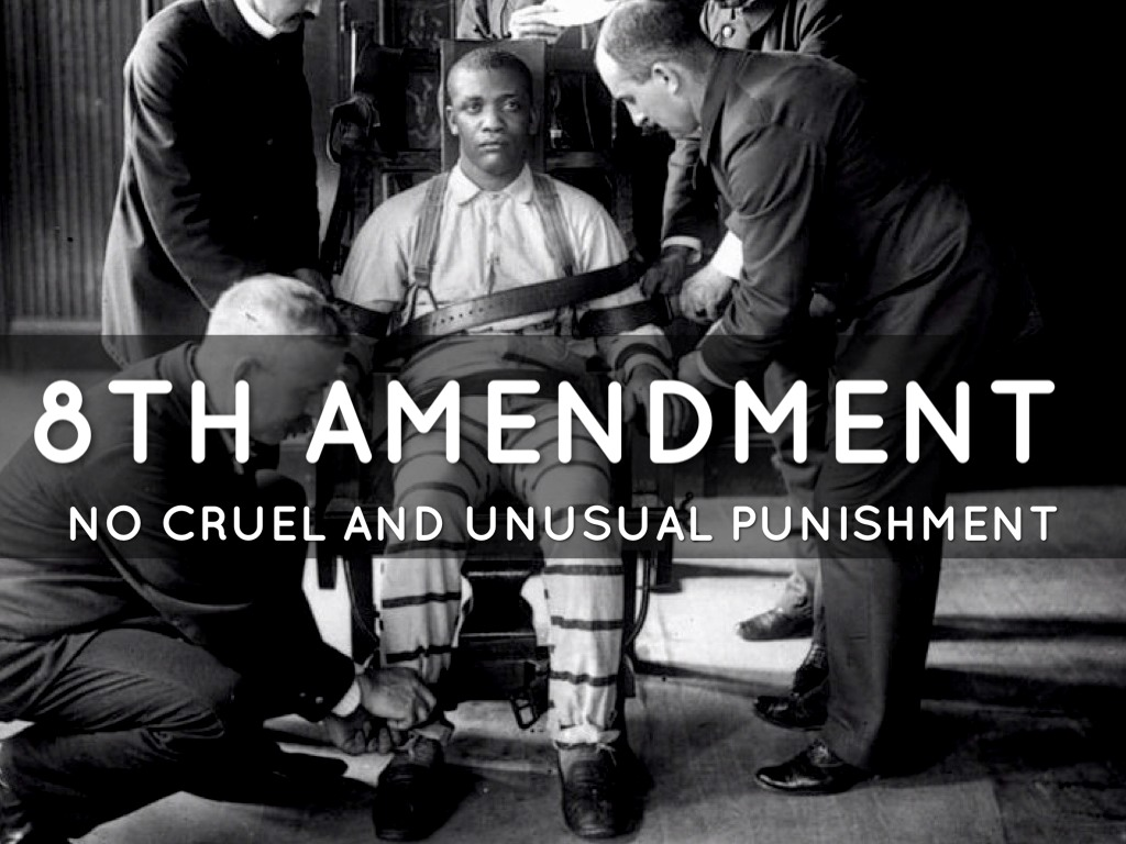 a study on capital punishment and the eight amendment Summaries of key supreme court cases related to the  order to sit on a capital  not amount to cruel and unusual punishment under the eighth amendment.