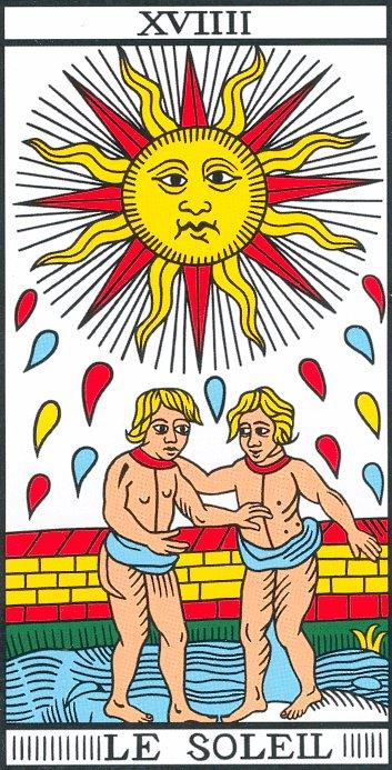 Vincent Beckers présente la carte du Soleil du tarot