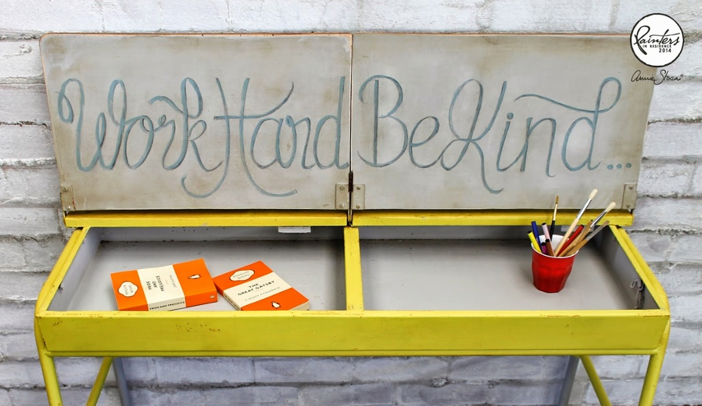 Beau Ford Work Hard Be Kind School Desk