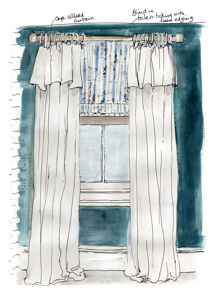 Annie Sloan Curtain and Blind Illustration