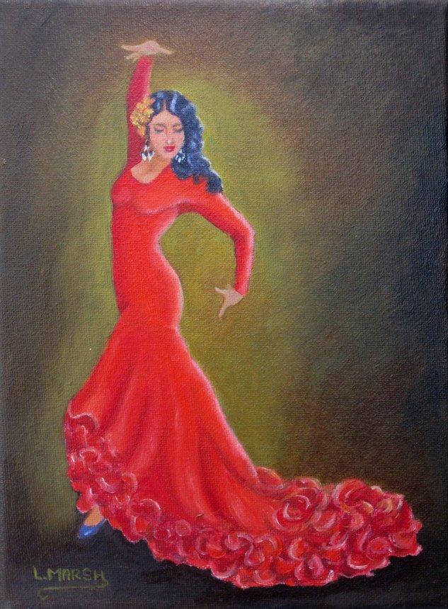 Flamenco dancing by cami thinglink - Peinture danseuse de flamenco ...