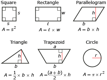 formula for area of a triangle Geometry formulas triangles - area of a triangle the area of a triangle is equal to half of the base multiplied by the perpendicular height of the triangle a right triangle showing height and base.