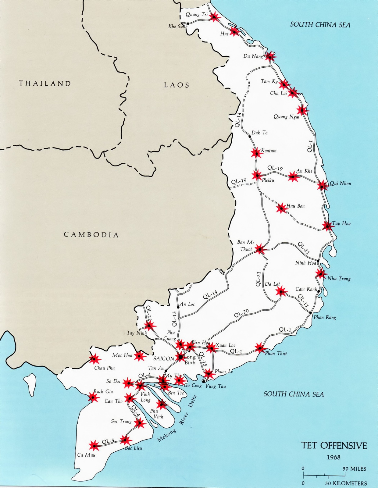 Lai Khe Vietnam Map.A Vietnam Map That Points Out The Location Of The Battles