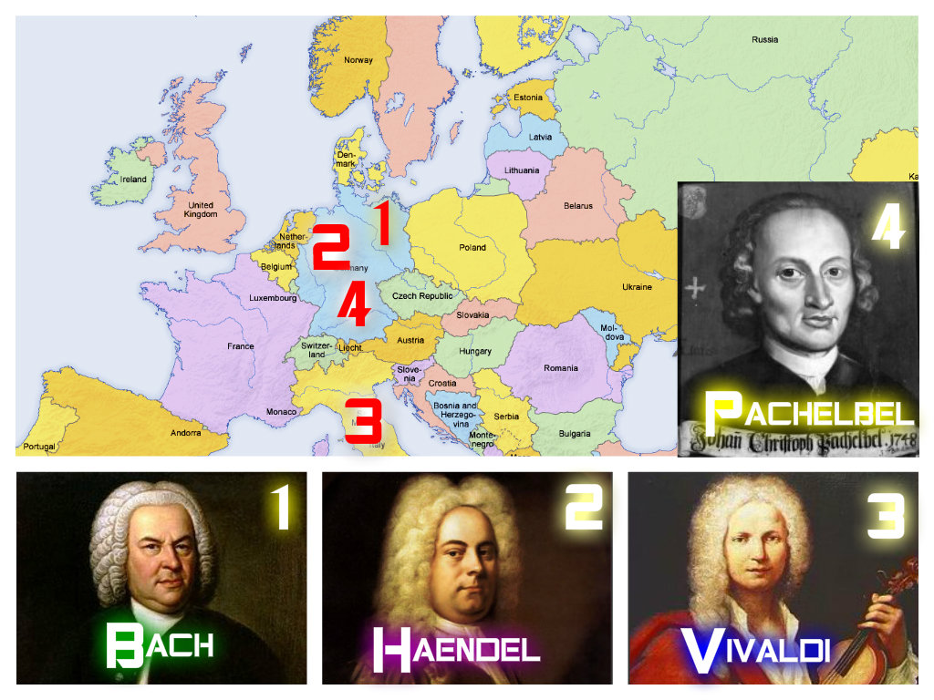 G. F. HAENDEL, J. S. BACH, J. PACHELBEL, A. VIVALDI