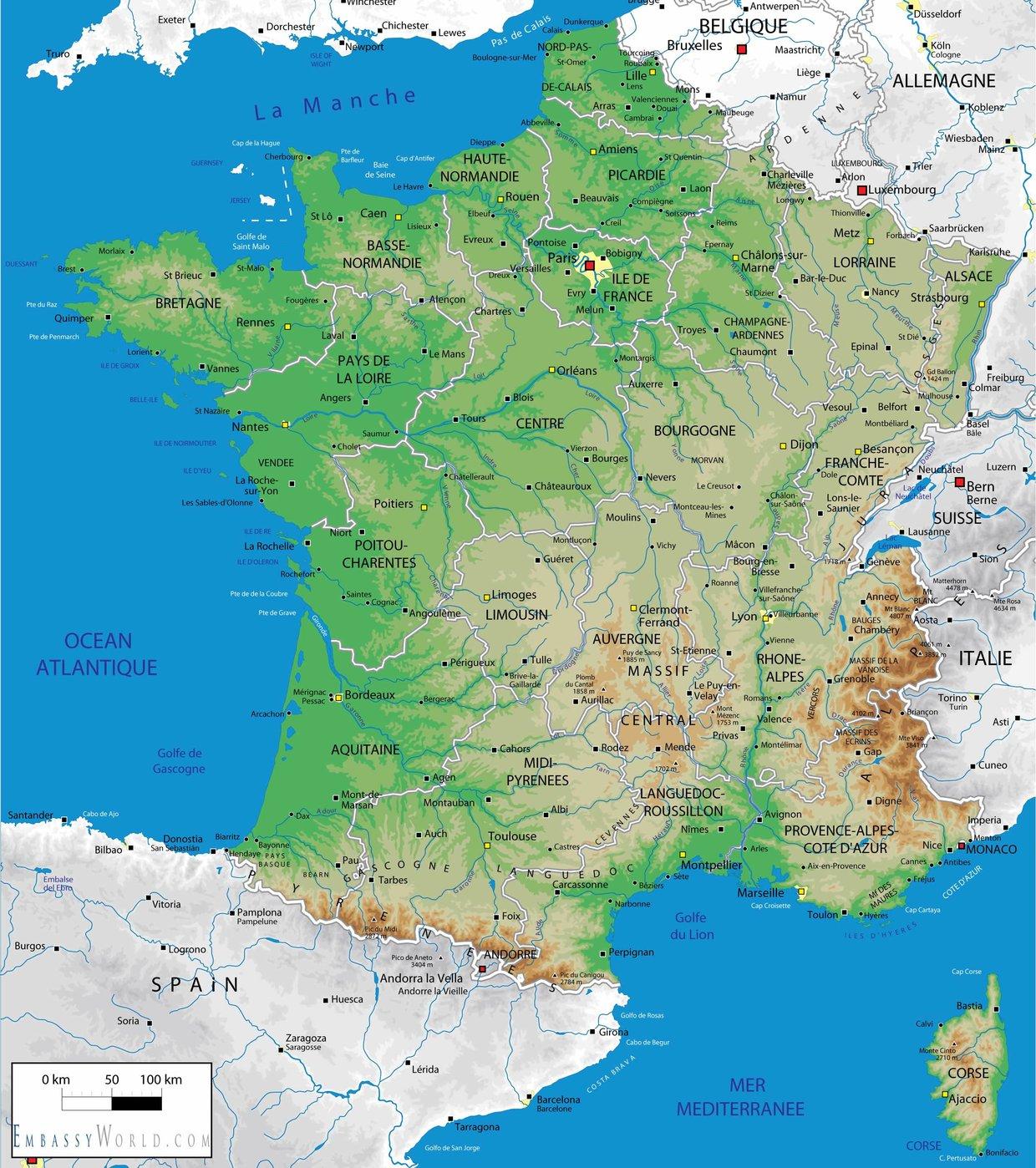 La Francia Cartina.La Francia E Parigi Lessons Tes Teach