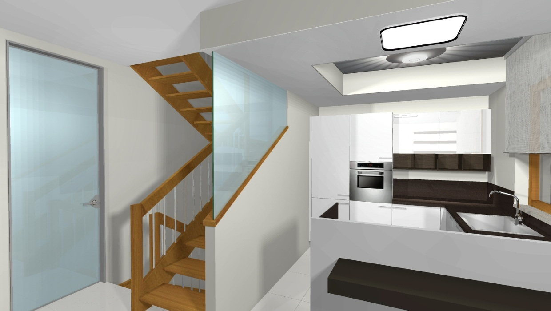 Progetto di arredamento 3d cucina open space for Progetto 3d cucina