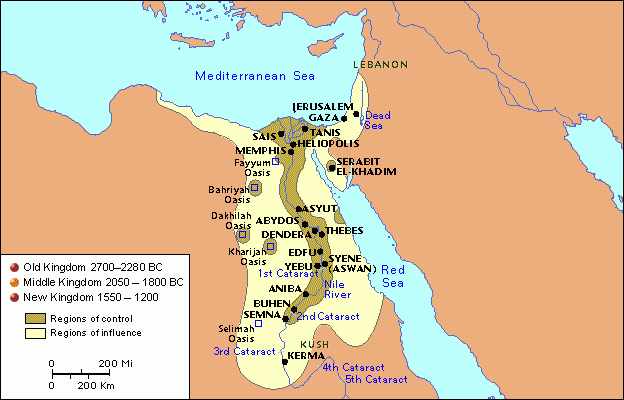Middle Kingdom Information ThingLink - Map of egypt old kingdom