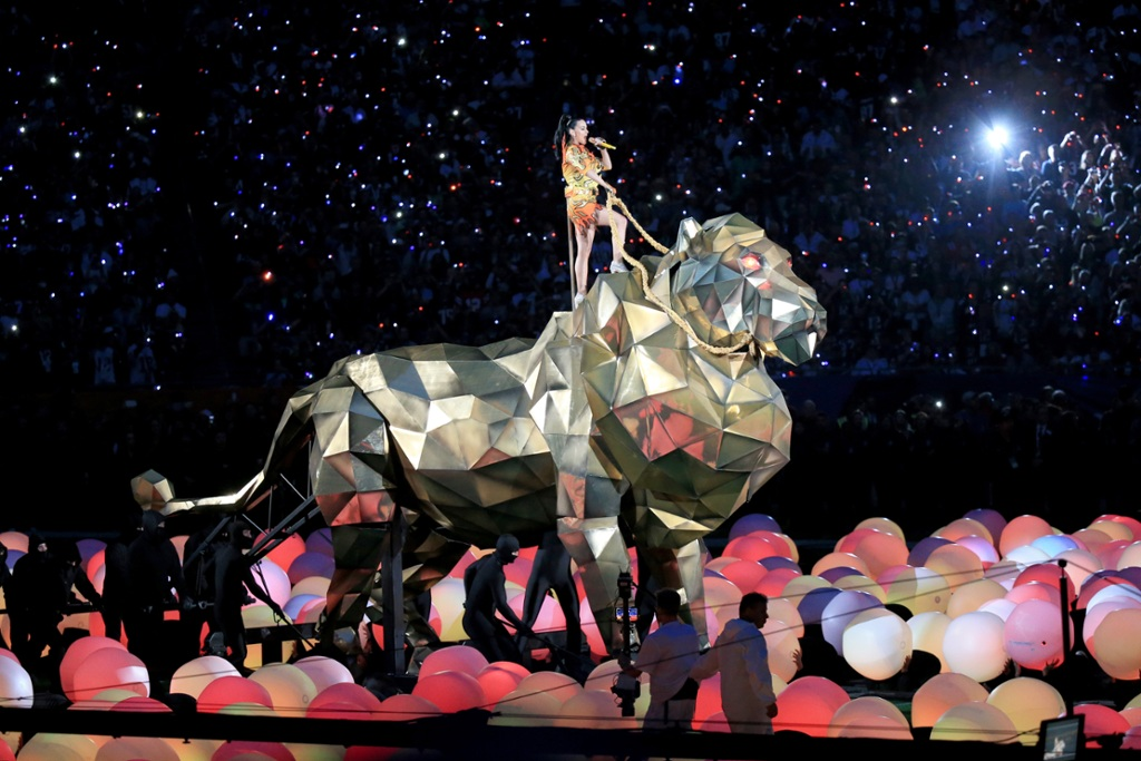 Image result for katy perry super bowl lion