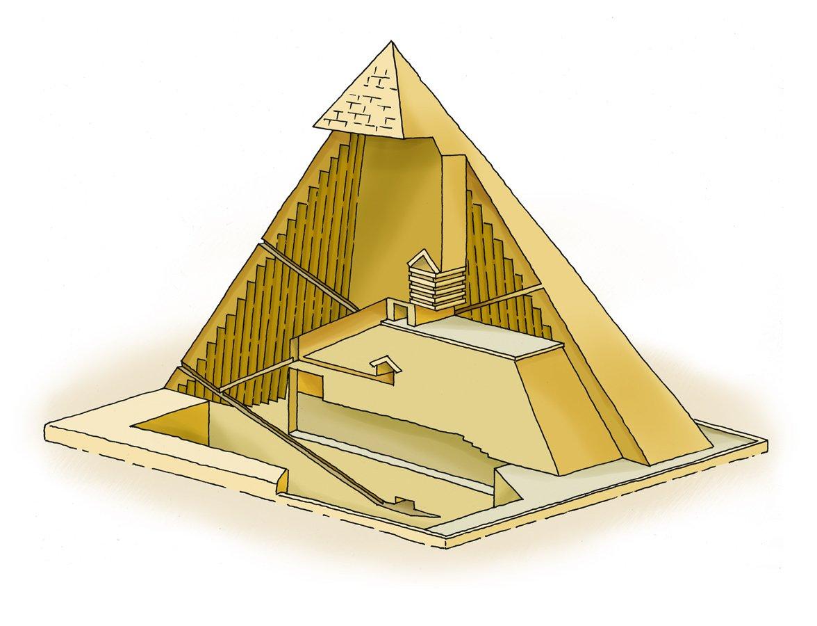 La struttura interna di una piramide thinglink for Interior de una piramide