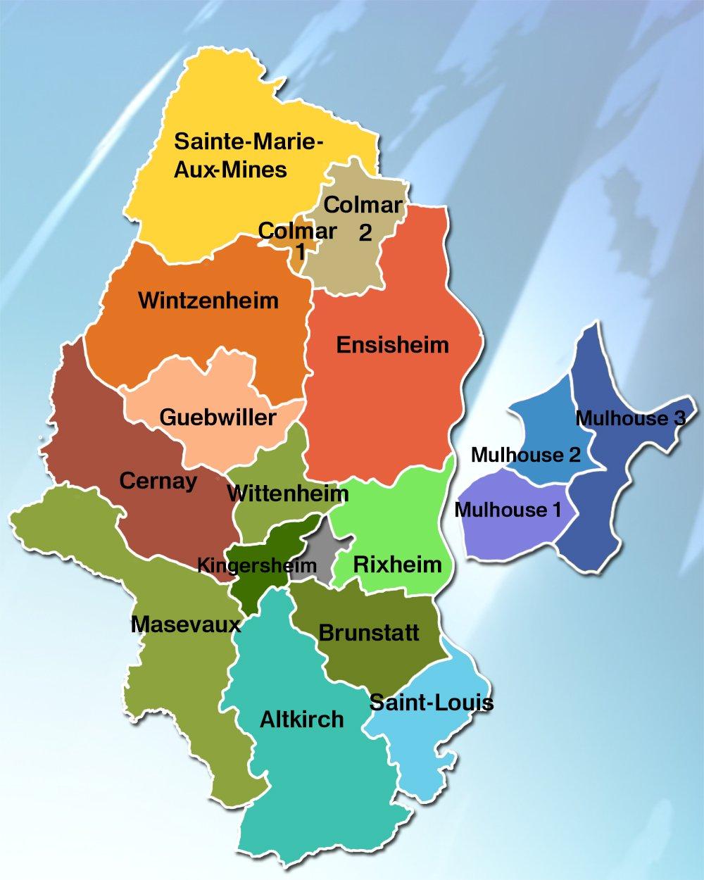 Carte Alsace Ensisheim.Departementales Dans Le Haut Rhin Dans Quel Canton Voterez