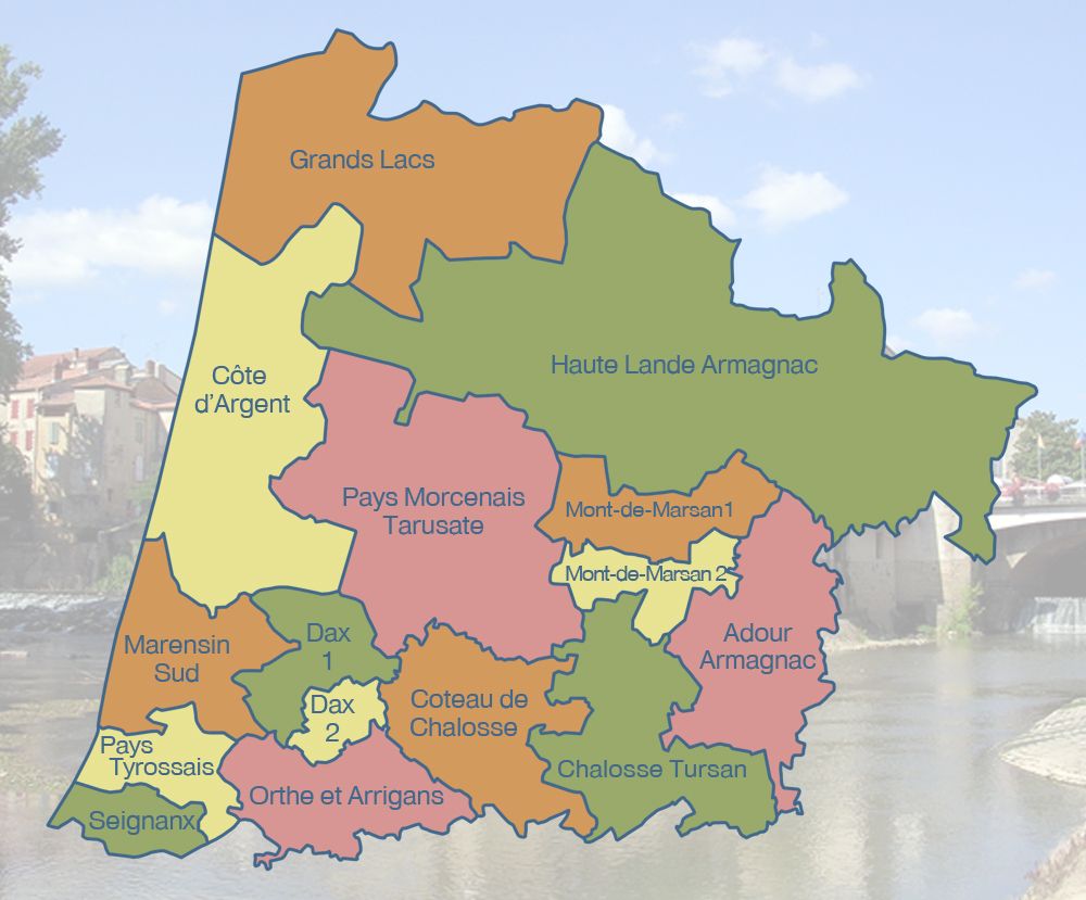 Landes : La carte des cantons   France 3 Nouvelle Aquitaine