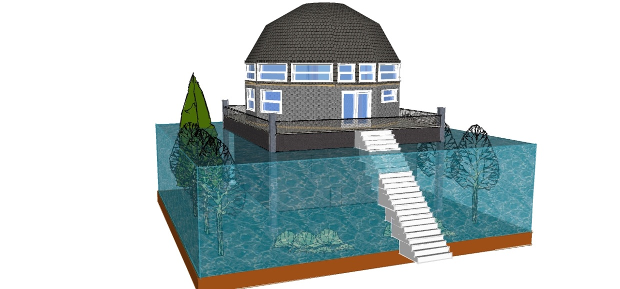 Flood proof house design american hwy for Cyclone proof home designs