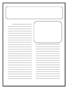 free printable newspaper template for students - headline picture place line and date line the lead of