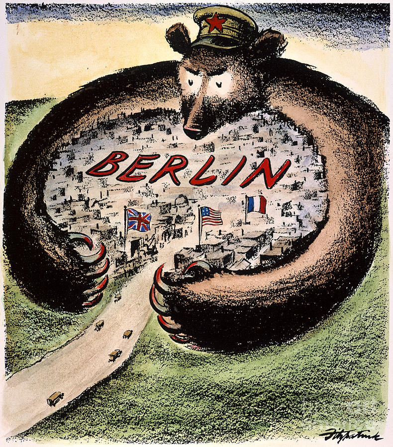 0973138718 Cold War Political Cartoon- Berlin Bear