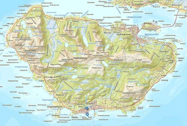 hadseløya kart Spennende fiskevann på Hadseløya (interaktivt kart)   LoVe24.no hadseløya kart