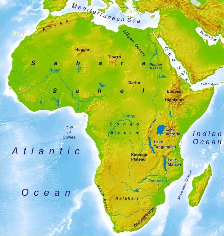 Shrivatsa and Sankalp Map of AFRICA.
