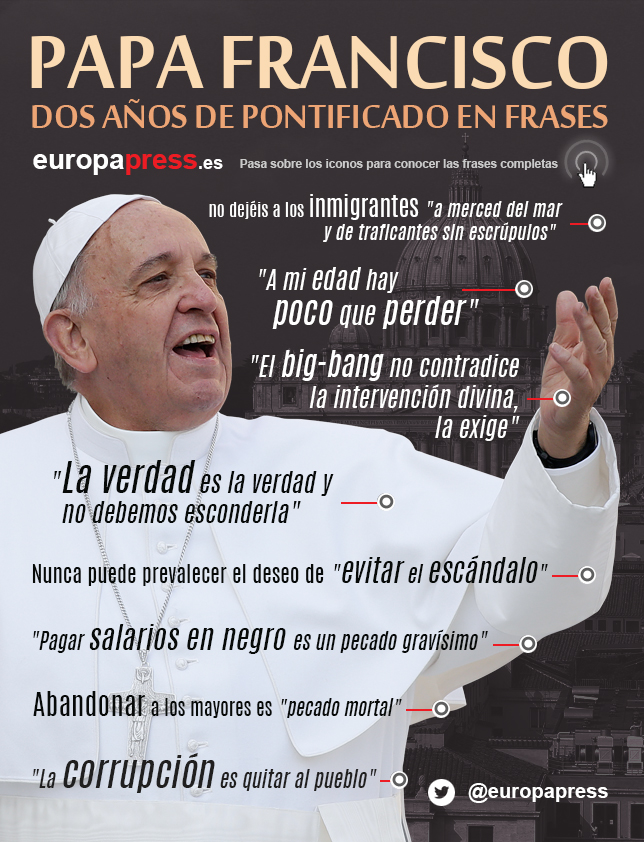 Frases De Navidad Papa Francisco.Dos Anos Del Papa Francisco En 10 Frases