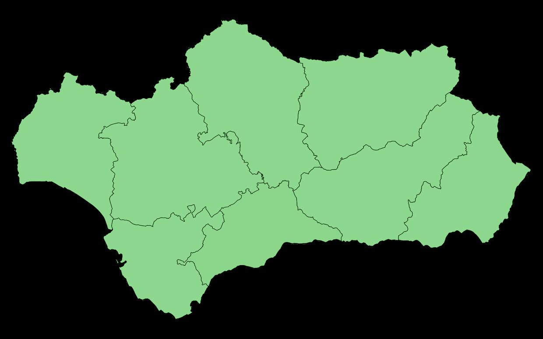 Mapa de la corrupción en Andalucía