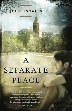 a separate peace war A separate peace is a coming-of-age novel by john knowles based on his  earlier short story, phineas, it was knowles' first published novel and became  his best-known work set against the backdrop of world war ii, a separate peace  explores.