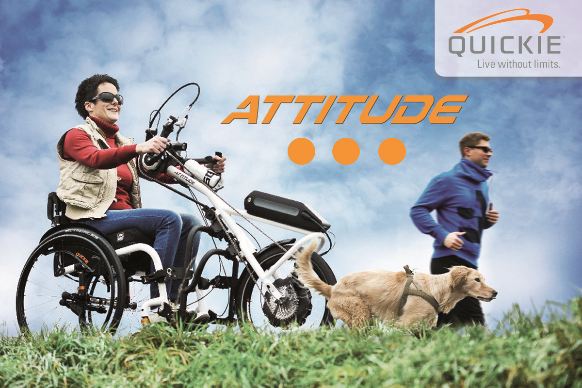 Quickie ATTITUDE - Wheelchair Add-on Hand Bike